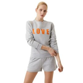Bjorn Borg Maria Crew Sweater Lichtgrijs 2111-1001 90741 model front