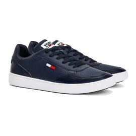 Tommy Hilfiger Essential Cupsole Sneaker Donkerblauw EM0EM00647 C87 pair side angle