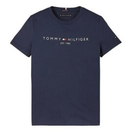 Tommy Hilfiger Essential Logo T-Shirt Blauw KB0KB05844-C87 front main