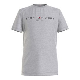 Tommy Hilfiger Essential Logo T-Shirt Grijs KB0KB05844-P01 front main