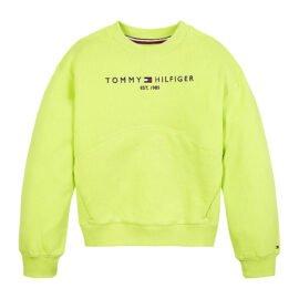 Tommy Hilfiger Essential Sweatshirt Limoen KG0KG05764-LT3 front main