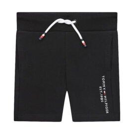 Tommy Hilfiger Essential Sweatshort Zwart front