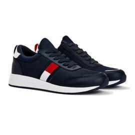 Tommy Hilfiger Flexi Lycra Sneaker Donkerblauw EM0EM00632-C87 pair side
