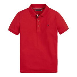 Tommy Hilfiger Slim Fit Polo Rood kb0kb06538-xnl front main
