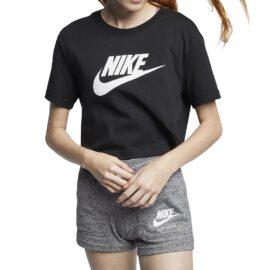 Nike Sportswear Essential Cropped T-Shirt Zwart BV6175-010 main
